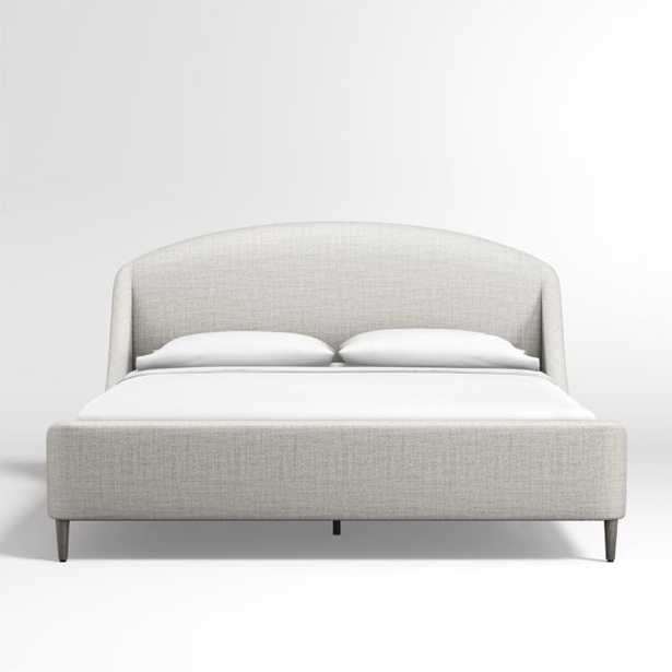 Lafayette Mist Upholstered King Bed - Backordered Until Early August - Crate and Barrel