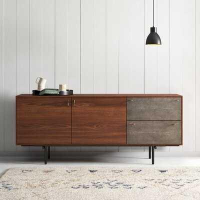 "Funchess 70.87"" Wide 2 Drawer Walnut Wood Buffet Table - AllModern"