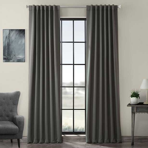 Exclusive Fabrics & Furnishings Semi-Opaque Anthracite Grey Blackout Curtain - 50 in. W x 96 in. L (individual) - Home Depot