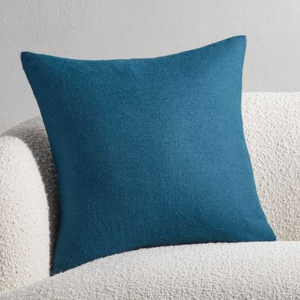"""20"""" Alpaca Teal Pillow with Feather-Down Insert - CB2"""