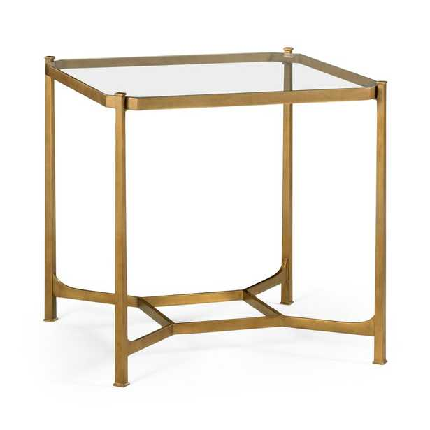 Jonathan Charles Fine Furniture 3 Tier End Table Table Base Color: Gold - Perigold
