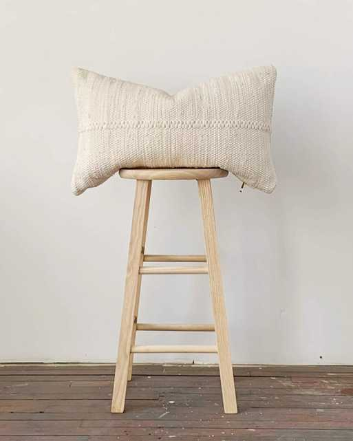 chindi lumbar pillow in heavy cream - with insert - PillowPia