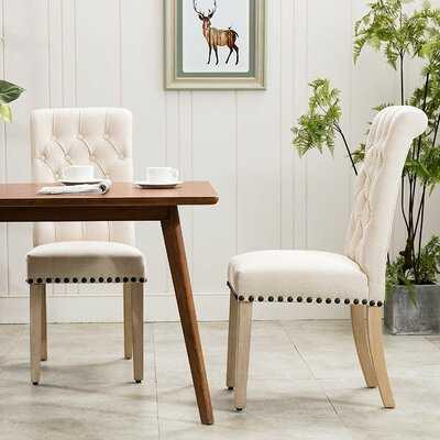 Roberto Tufted Linen Upholstered Parsons Chair (Set of 2) - Wayfair