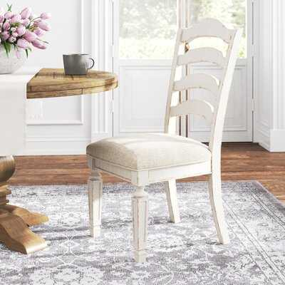 Sara Ladder Back Side Chair in Off-White (Set of 2) - Wayfair