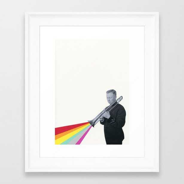 The Colour Of Music Framed Art Print by Cassia Beck - Scoop White - X-Small-10x12 - Society6