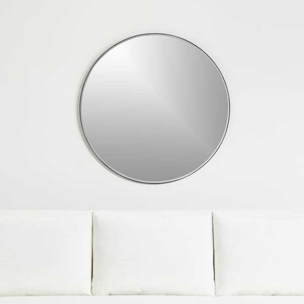 """Edge Black Round 36"""" Wall Mirror - Crate and Barrel"""