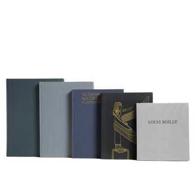 5 Piece Granite ColorStak Authentic Decorative Book Set - Wayfair