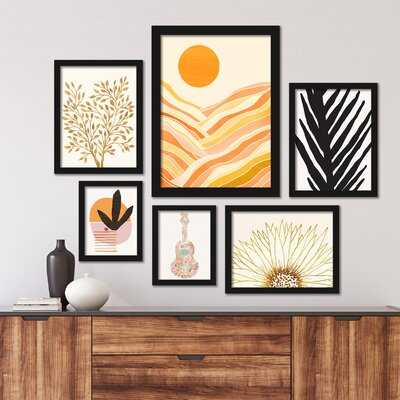 Tropical 6 Piece Framed Graphic Art Print Set - AllModern