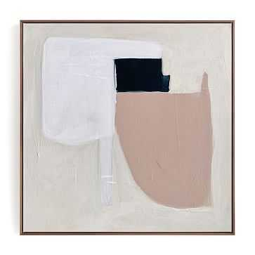 Minted Certainty No.2, 30X30, Framed Canvas, Walnut Wood Canvas Frame - West Elm