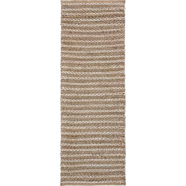 LR Home Global Gray and Ivory 2 ft. x 5 ft. 8 in. Striped Natural Jute Runner Rug - Home Depot