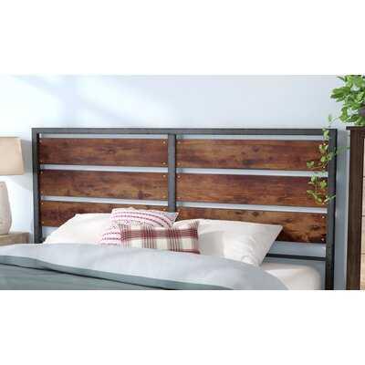 Abril Metal and Wood Plank Queen Slat Headboard - Wayfair