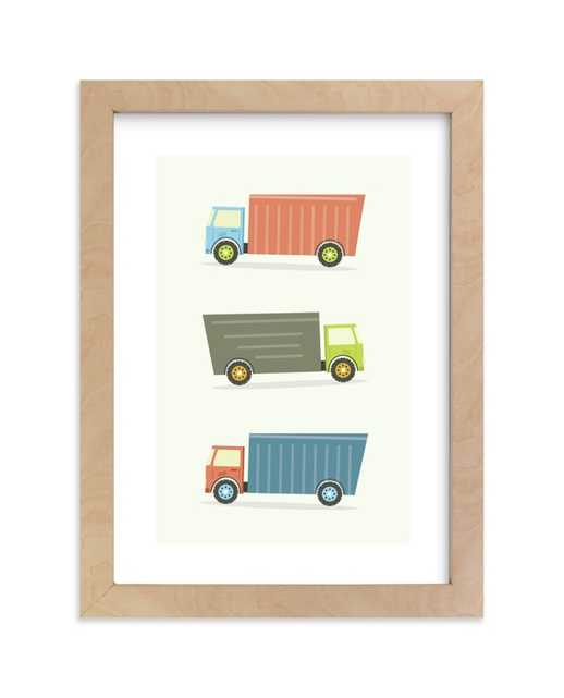 Moving Trucks Children's Art Print - Minted