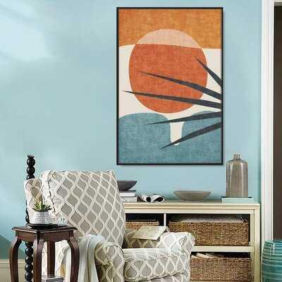 'Block' - Floter Frame Print on Canvas - Wayfair