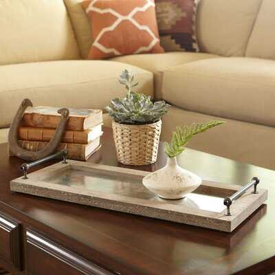 Desjardins Ottoman/Coffee Table Tray - Birch Lane