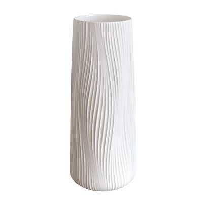 """Abbygael Ivory 12.1"""" Porcelain Table Vase - Wayfair"""