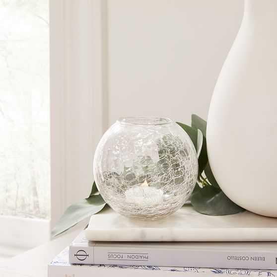 Crackle Glass Bud Vase, Set of 3 - West Elm
