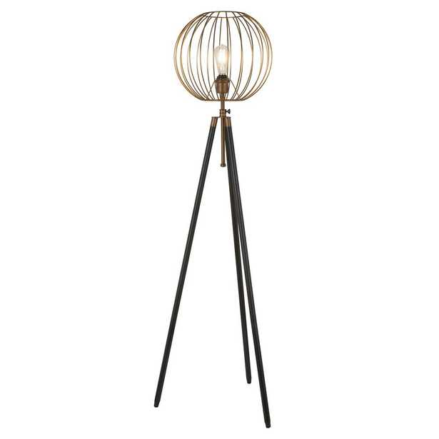 Hudson&Canal Paramon 69 in. Antique Brass Floor Lamp - Home Depot