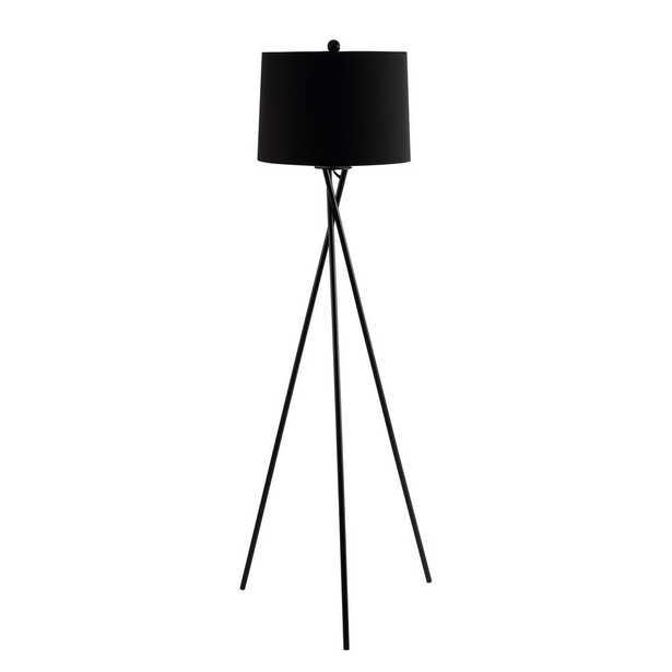 Safavieh Parsen 61.5 in. Black Floor Lamp - Home Depot
