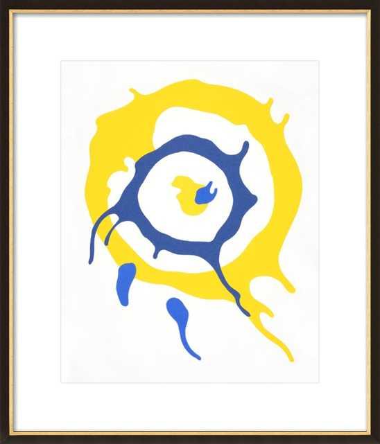 Spin Art (Yellow & Blue) by Rankin Willard for Artfully Walls - Artfully Walls