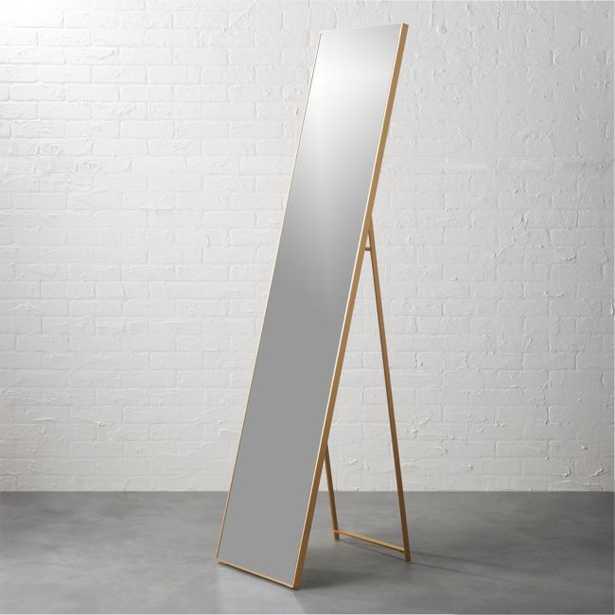 "Infinity Brass 16""x69"" Standing Mirror - CB2"