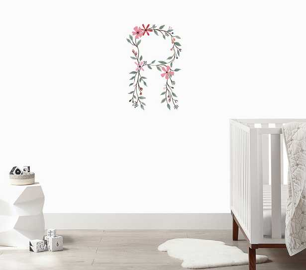 Floral Letter Wall Decal, R - Pottery Barn Kids