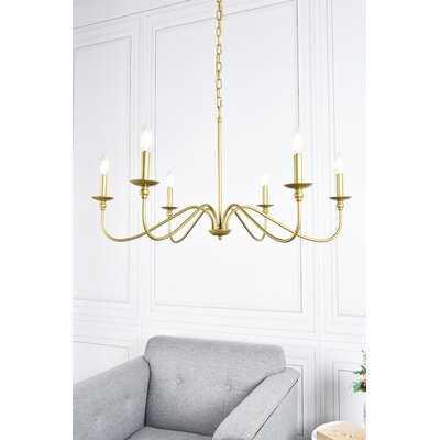 Hamza 6-Light Candle Style Chandelier - Wayfair