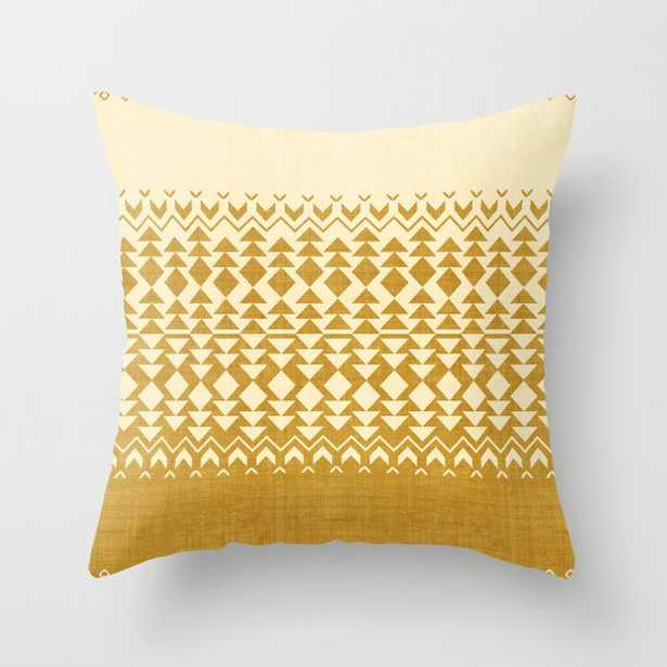 """Sollia In Gold Couch Throw Pillow by Becky Bailey - Cover (16"""" x 16"""") with pillow insert - Indoor Pillow - Society6"""