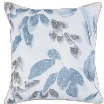 "Doynton Savannah Velvet Floral 22"" Throw Pillow - Wayfair"