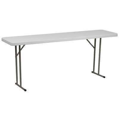 """72"""" Rectangular Folding Table - Wayfair"""