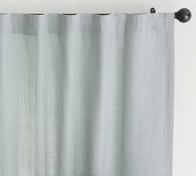 """Belgian Flax Linen Curtain, Unlined / 50 x 84"""" /Chambray - Pottery Barn"""