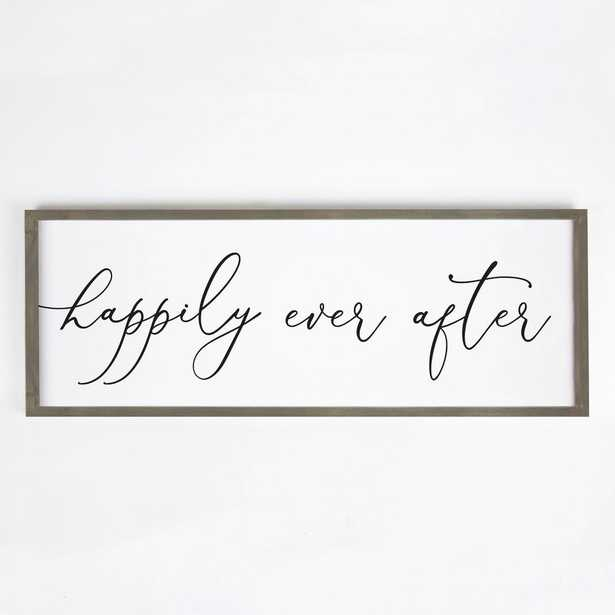 P Graham Dunn Happily Ever After individual wood wall art, off white - Home Depot