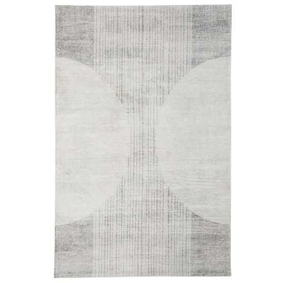 Boho Washable Rug, 5X8, Light Gray - West Elm