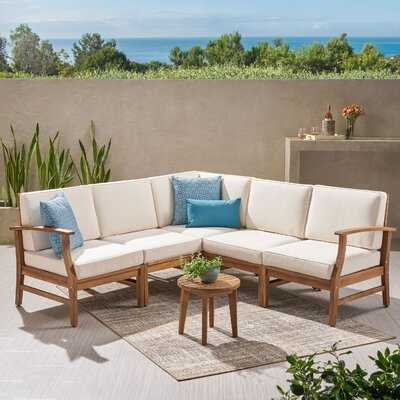 Jalissa 24'' Wide Outdoor Symmetrical Patio Sectional with Cushions - Wayfair