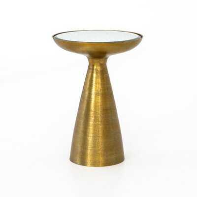 Rogers Glass Top End Table - Wayfair