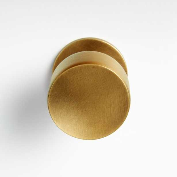 Oval Antique Brass Knob - Crate and Barrel