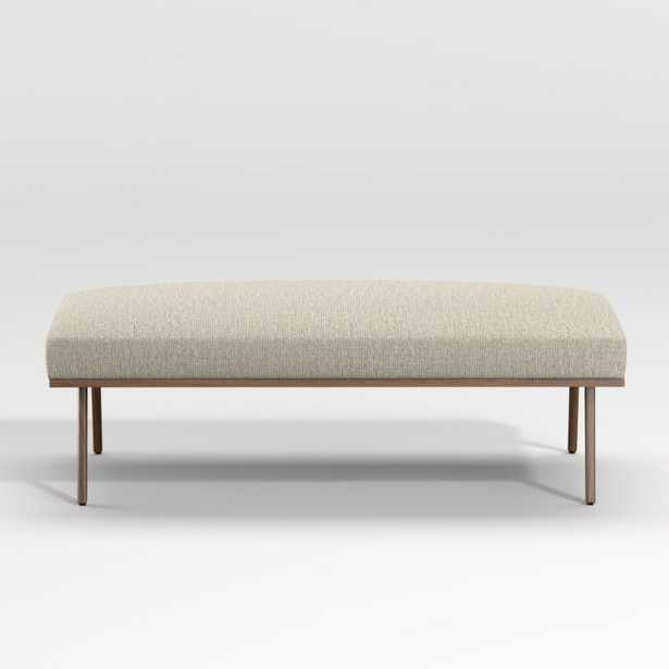 Cavett Wood Frame Bench - Crate and Barrel
