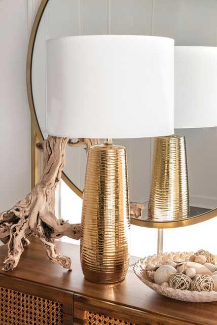 "Globe 26"" Ceramic Table Lamp - Loom 23"