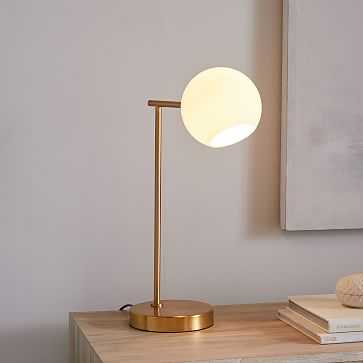 Staggered Glass Table Lamp + USB - West Elm
