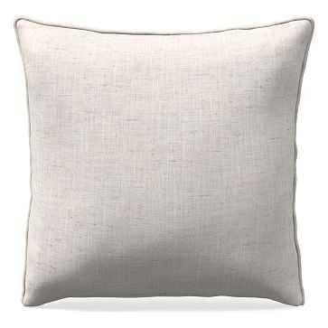 "26""x 26"" Welt Seam Pillow, Performance Coastal Linen, Stone White - West Elm"
