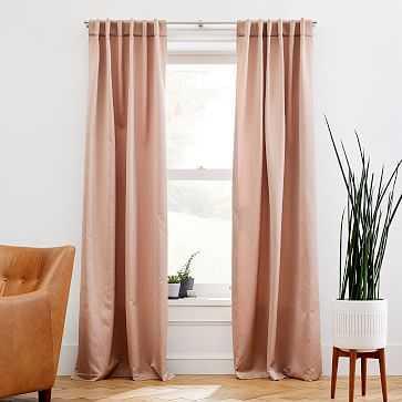 "Ripple Jacquard Curtain, Dusty Blush, 48""x96"" - West Elm"