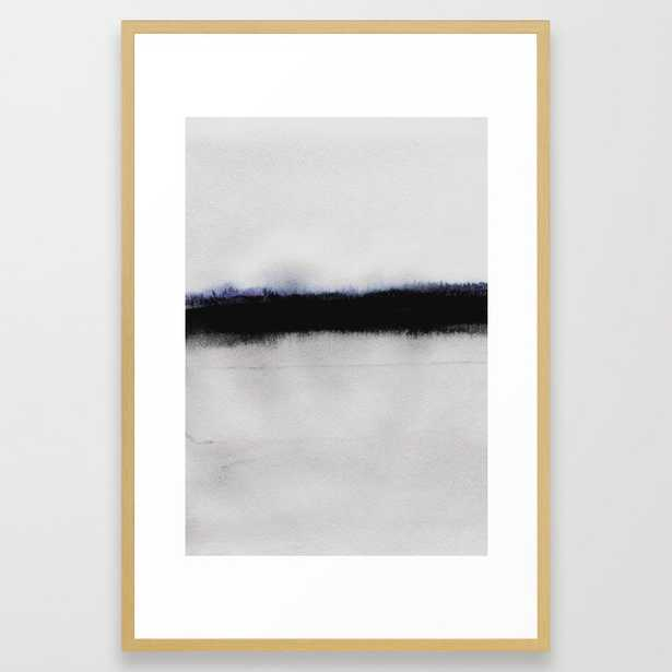 Simple Horizon Framed Art Print by Georgiana Paraschiv - Conservation Natural - LARGE (Gallery)-26x38 - Society6