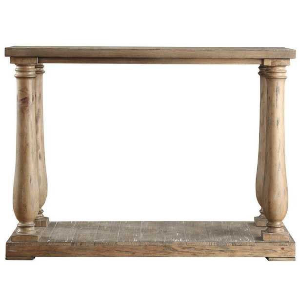 Malvern Hill Distressed Pine Console Table - Home Depot