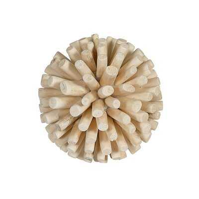 "Allaire Wood Natural Spheres Sculpture 6"" - Wayfair"