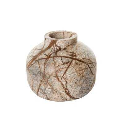 """Fevzie Brown 4"""" Stoneware Table Vase - Wayfair"""