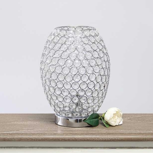 "Elegant Designs Elipse 11""H Chrome Curved Accent Table Lamp - Style # 79T23 - Lamps Plus"