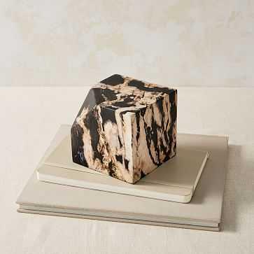 Petrified Wood Cube, Natural - West Elm