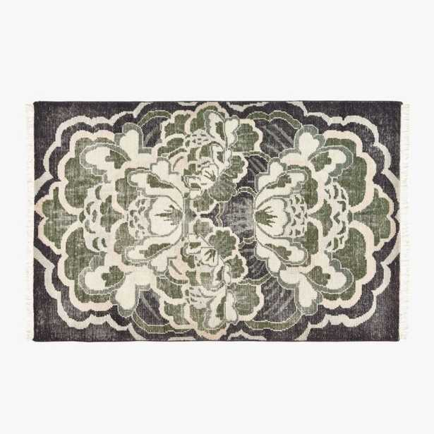 Allure Green Hand-Knotted Rug 6'x9' - CB2