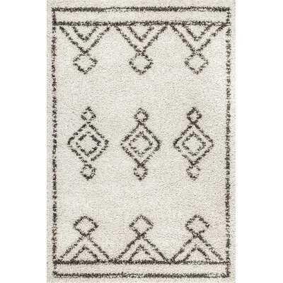 Standish Geometric Black/Off White Area Rug - Wayfair