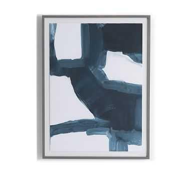 "Blue Course Li Framed Print, Blue, 36"" x 48"" - Pottery Barn"