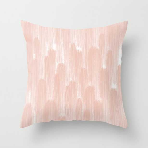 """Brush Strokes - Blush Couch Throw Pillow by The Aestate - Cover (24"""" x 24"""") with pillow insert - Indoor Pillow - Society6"""